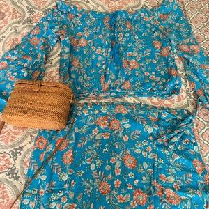 Boho Floral Skirt and Blouse set